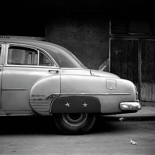 Wall Art - Photograph - Vintage Car In Havana, Cuba by Huy Lam