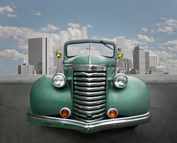 Photograph - Vintage Car In Urban Environment by Ed Freeman