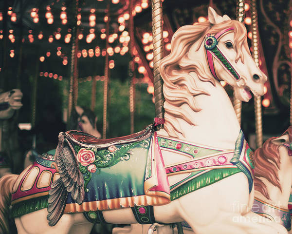Wall Art - Photograph - Vintage Carousel Horse by Andrekart Photography