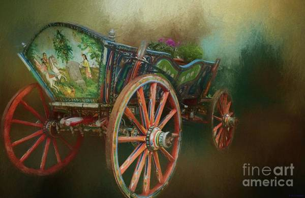 Mixed Media - Vintage Carriage by Eva Lechner