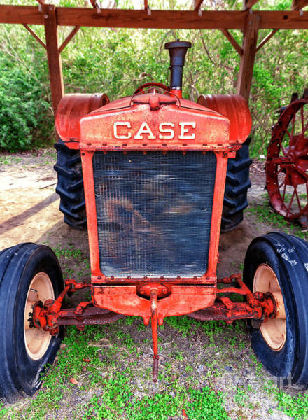 Photograph - Vintage Case Tractor At Boone Hall Plantation by John Rizzuto