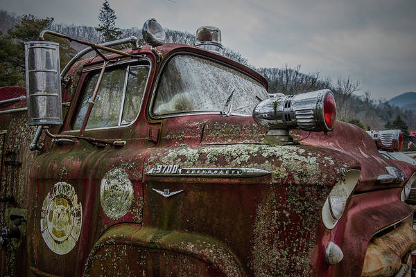 Wall Art - Photograph - Vintage Chevy Firetruck by Paul Freidlund