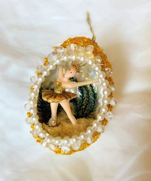 Photograph - Vintage Christmas Ornament Ballerina Inside Egg by Marilyn Hunt