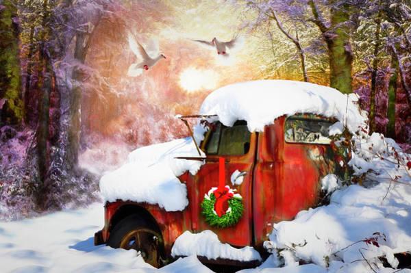 Photograph - Vintage Christmastime Painting by Debra and Dave Vanderlaan
