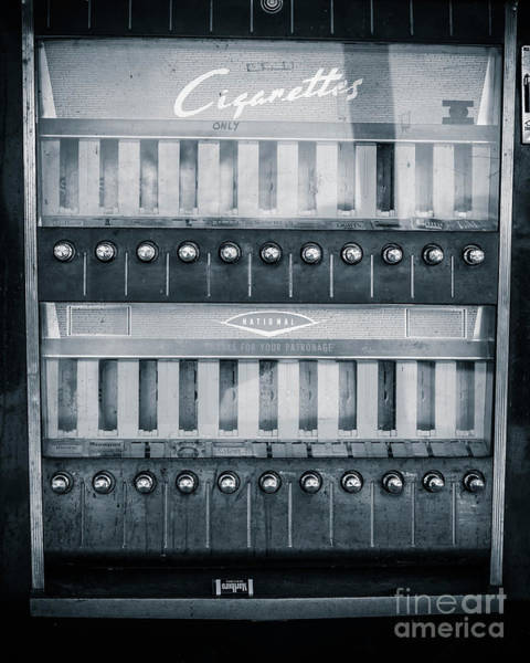 Wall Art - Photograph - Vintage Cigarette Coin-op Machine by Edward Fielding