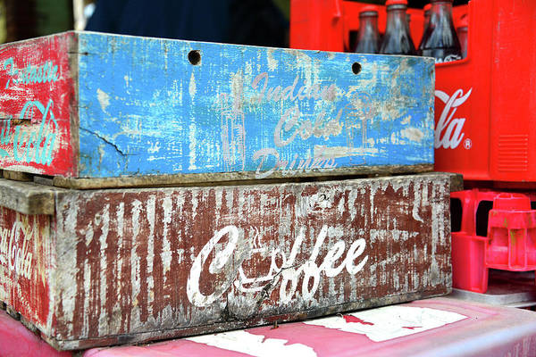 Wall Art - Photograph - Vintage Coca Cola Crates by David Lee Thompson