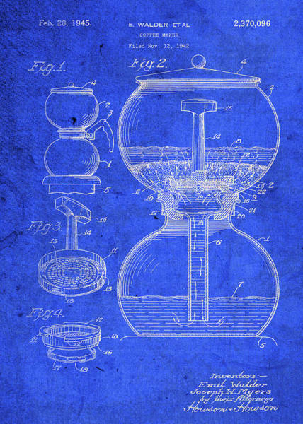 Patent Mixed Media - Vintage Coffee Maker Patent Blueprint by Design Turnpike