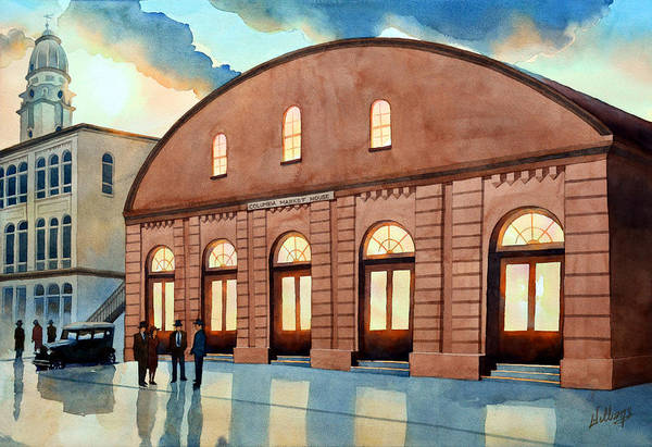 Painting - Vintage Color Columbia Market House by Mick Williams