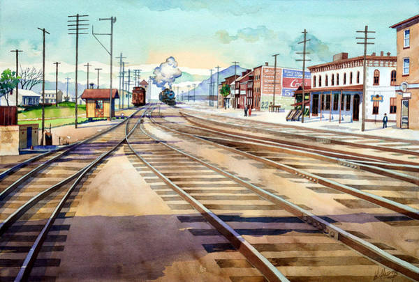 Painting - Vintage Color Columbia Rail Yards by Mick Williams
