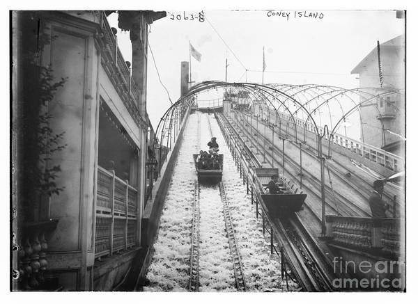 Photograph - Vintage Coney Island New York  by Bain