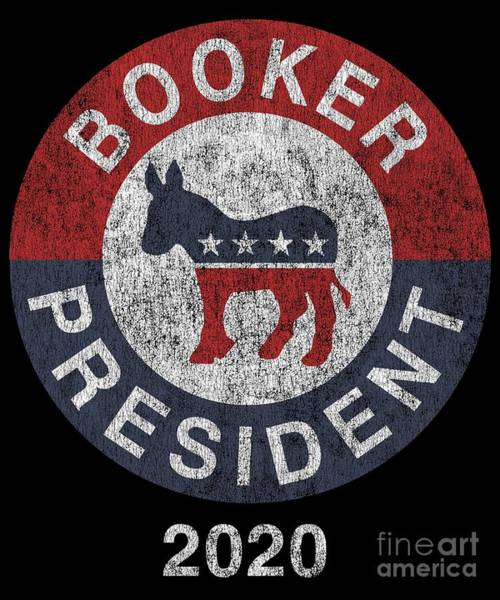 Digital Art - Vintage Corey Booker 2020 by Flippin Sweet Gear