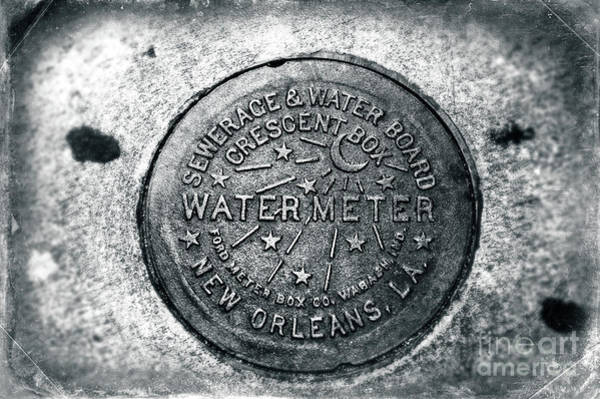 Wall Art - Photograph - Vintage Crescent Box Water Meter New Orleans by John Rizzuto