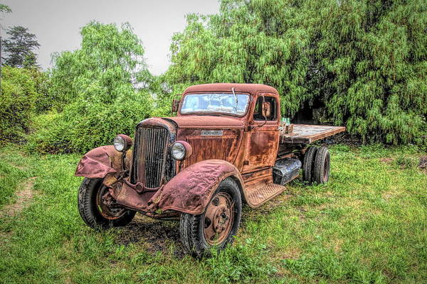 Photograph - Vintage Dodge Flatbed Truck by Floyd Snyder