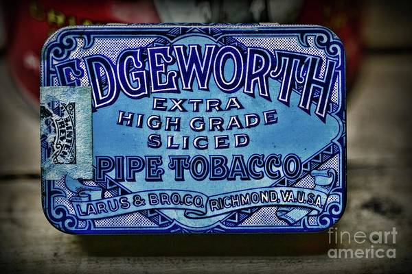 Vape Photograph - Vintage Edgeworth Pipe Tobacco Tin by Paul Ward