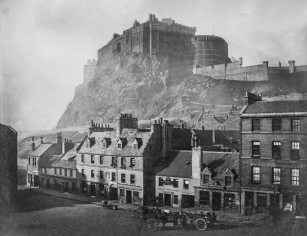 Photograph - Vintage Edinburgh Castle - Scotland by Digital Reproductions