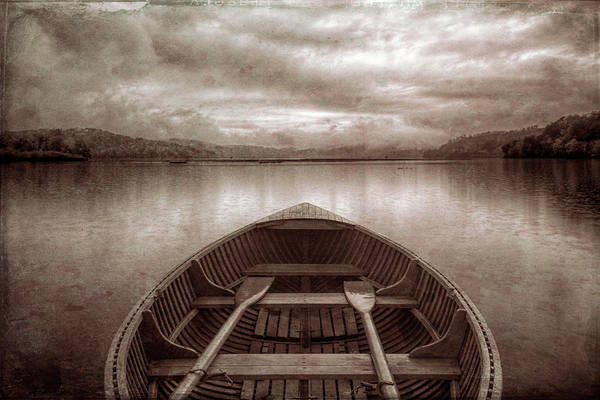 Wall Art - Photograph - Vintage Evening Rowboat by Debra and Dave Vanderlaan