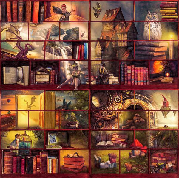 Digital Art - Vintage Fairytales by Debra and Dave Vanderlaan