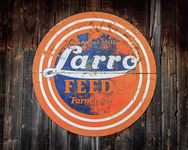 Photograph - Vintage Farmhouse Feed Sign by James Eddy
