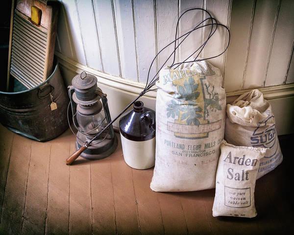 Photograph - Vintage Farmhouse Flour Salt And Sugar by James Eddy