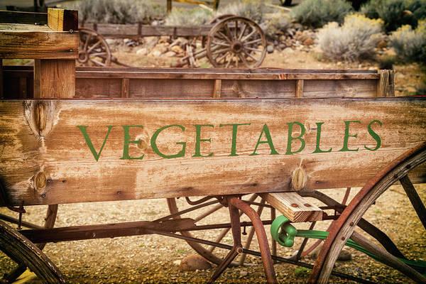 Photograph - Vintage Farmhouse Vegetable Wagon by James Eddy