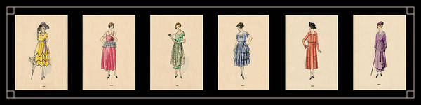 Wall Art - Photograph - Vintage Fashion Montage 1 by Andrew Fare