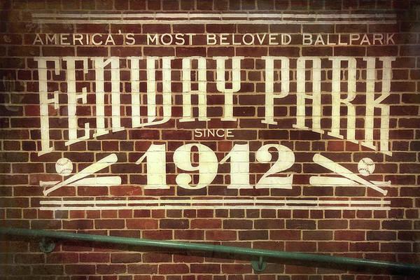 Wall Art - Photograph - Vintage Fenway Park 1912 by Joann Vitali