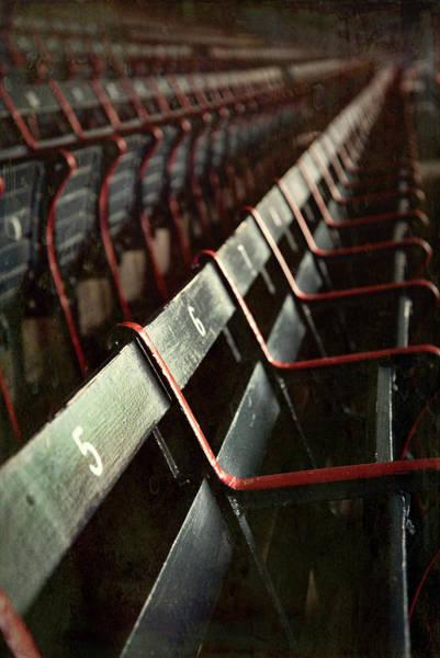 Photograph - Vintage Fenway Park Seats by Joann Vitali