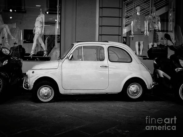 Wall Art - Photograph - Vintage Fiat 500 Florence Italy by Edward Fielding