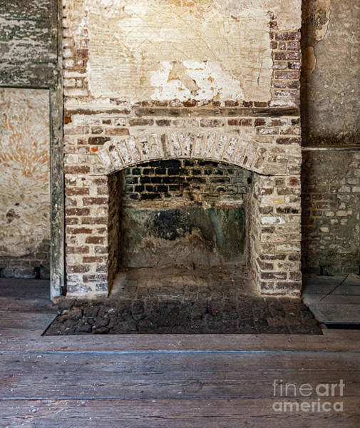 Photograph - Vintage Fireplace - Aiken Rhett House by Dale Powell