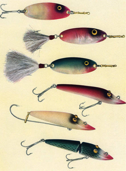 Vintage Fishing Lures Art Print