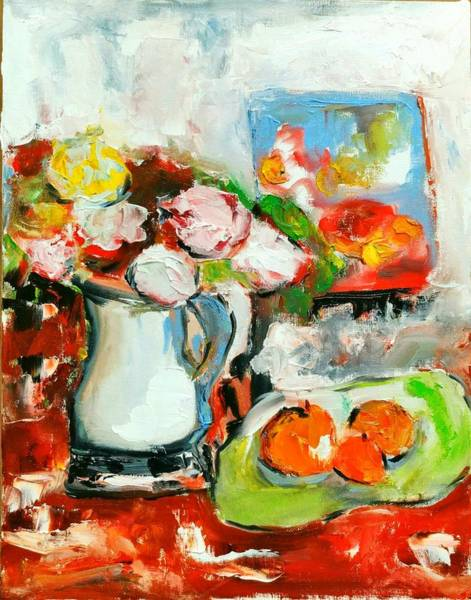 Painting - Vintage Flowers by Constance Paul