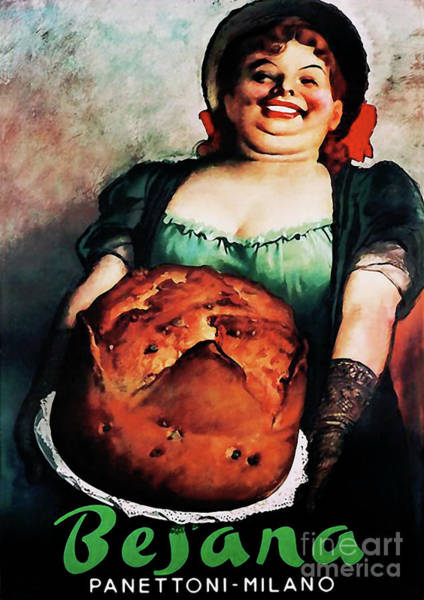 Wall Art - Painting - Vintage Food Ad Panettoni Milan Italy by Tina Lavoie