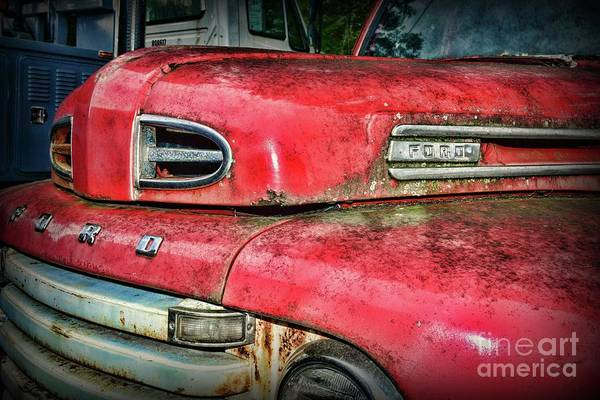 Wall Art - Photograph - Vintage Ford  F4 Tow Truck Front End by Paul Ward