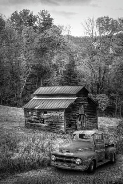 Photograph - Vintage Ford In Black And White by Debra and Dave Vanderlaan