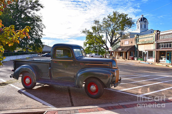 Vernon County Photograph - Vintage Ford In Mt. Vernon, Texas by Catherine Sherman
