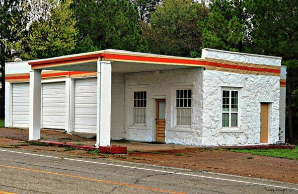 Photograph - Vintage Gas Station by Wesley Nesbitt