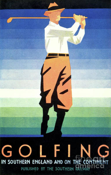 Wall Art - Painting - Vintage Golf Poster by English School