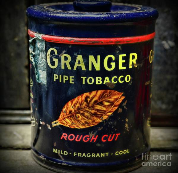 Wall Art - Photograph - Vintage Granger Pipe Tobacco Tin by Paul Ward