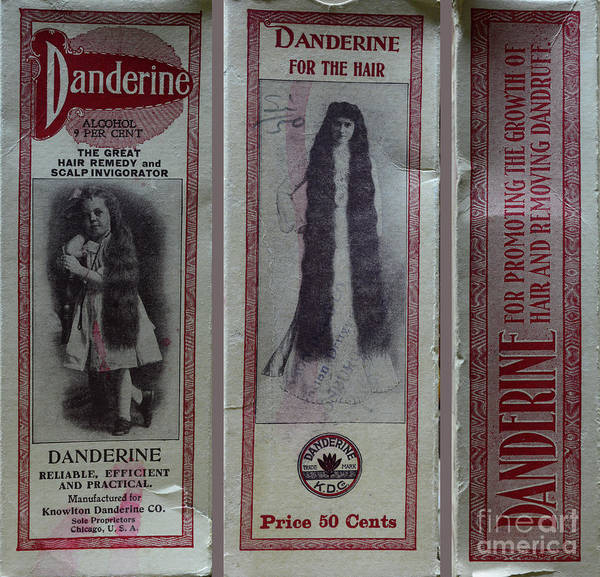 Wall Art - Photograph - Vintage Hair Care Danderine 3 by Paul Ward