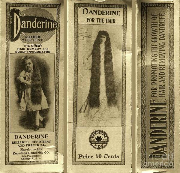 Wall Art - Photograph - Vintage Hair Care Danderine 3 Sepia by Paul Ward