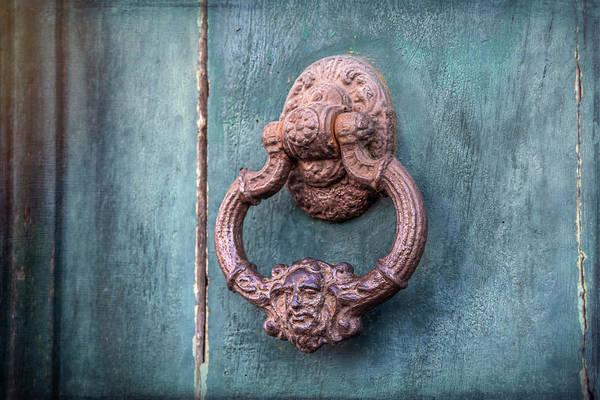 Doorknob Photograph - Vintage Head Door Knocker Toulouse France  by Carol Japp