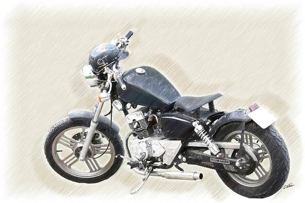 Drawing - Vintage Honmaki Motorbike - Dwp1720526 by Dean Wittle