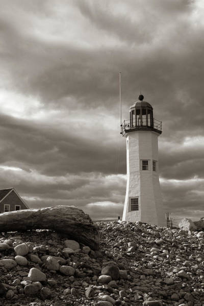 Photograph - Vintage Image Of Scituate Lighthouse by Jeff Folger