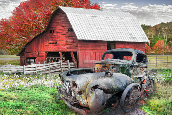Photograph - Vintage In The Country Pasture by Debra and Dave Vanderlaan