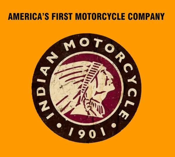 Wall Art - Digital Art - Vintage Indian Motorcycle Company Logo - T-shirt by Daniel Hagerman