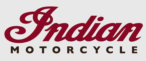 Wall Art - Digital Art - Vintage Indian Motorcycle Logo - T-shirt by Daniel Hagerman