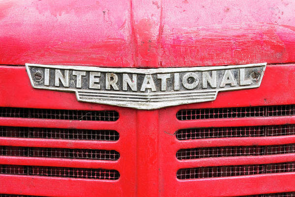 Wall Art - Photograph - Vintage International Tractor Badge by Richard Nixon