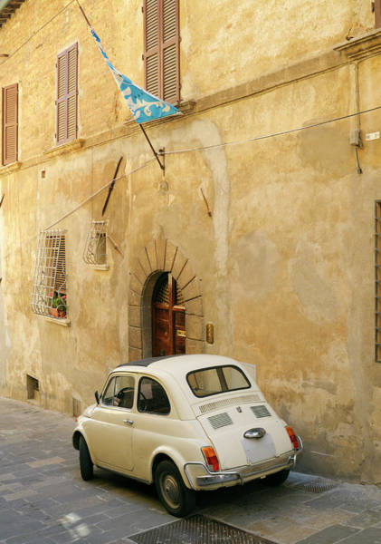 Blues Alley Photograph - Vintage Italian Car Fiat 500 Urban Scene by Lisa-blue