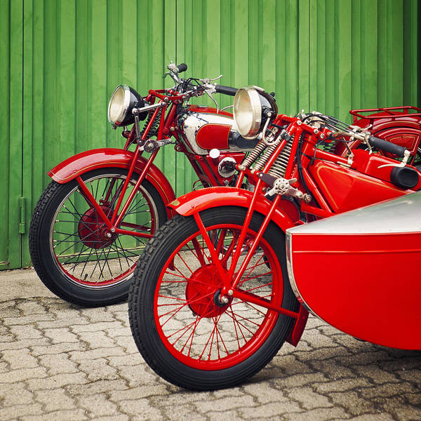 Wall Art - Photograph - Vintage Italian Motorcycles by Thepalmer