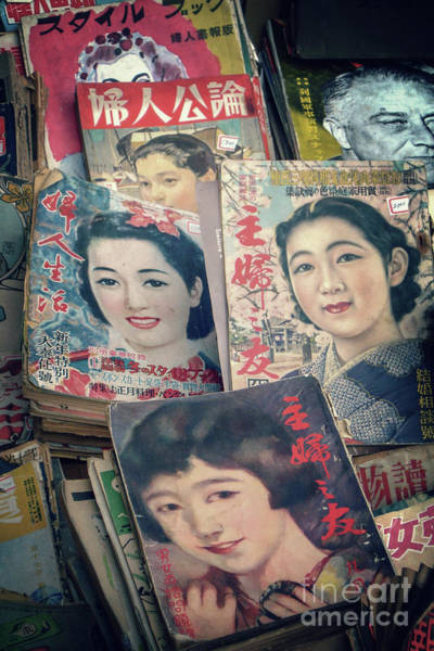 Wall Art - Photograph - Vintage Japanese Magazines by Delphimages Photo Creations